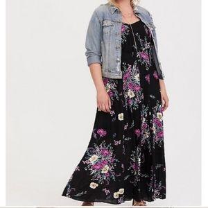 Beautiful supersoft knit floral maxi dress